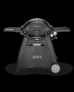Weber Gasgrill Q 3200 Black Line Modell 2019 inkl. Hitzeschild und Bratenrost
